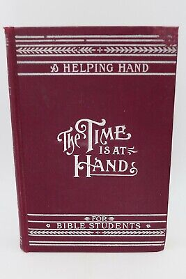 $50 • Buy The Time Is At Hand MILLENNIAL DAWN Studies In The Scriptures IBSA Watchtower