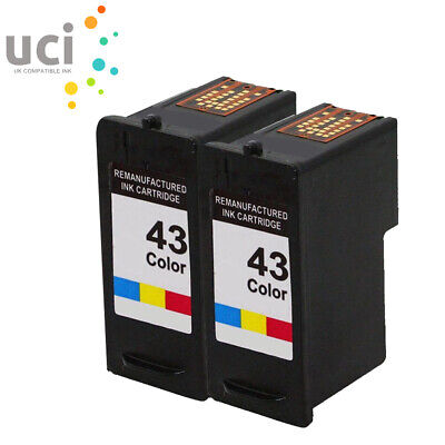 £13.10 • Buy 2 Color Ink Cartridge For Lexmark NO.43 X4800 X4850 X4950 X6575 X7550 X9350
