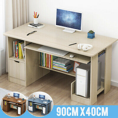 AU80.99 • Buy Computer Desk Study Office Storage PC Laptop Table Student Home Writing Shelves