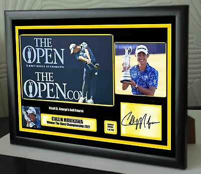 £18.99 • Buy Collin Morikawa Open Champion 2021 Framed Canvas Photo Print Signed  Great Gift