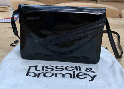 £7.50 • Buy Russell And Bromley Black Patent Leather Vintage Clutch/Shoulder/Cross Body Bag