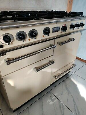 £1190 • Buy Falcon Cooker 110cm Dual Fuel Range Cooker In Cream And Chrome.  Ref--f127