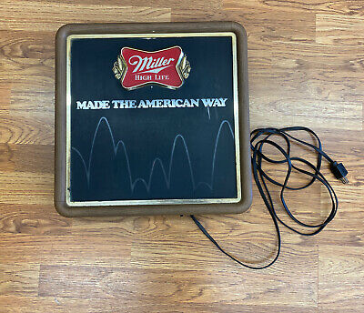 $152.50 • Buy Vintage Miller High Life Motion Bouncing Ball Lighted Sign MADE AMERICAN WAY