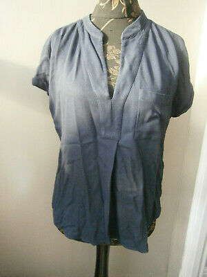 £5 • Buy The White Company Ladies Navy Blue Top-size 12