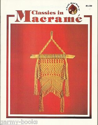 $8.78 • Buy Classics In Macrame Turk's Head Series Vintage Pattern Instruction Book NEW 70's