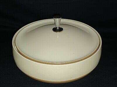 $14.95 • Buy Vintage Insulated Covered Dish Bowl Brown And White Vacron Bopp Decker Inc.