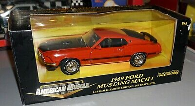 $59.99 • Buy 1969 Ford Mustang Mach I American Muscle 1/18 Diecast New In Box.