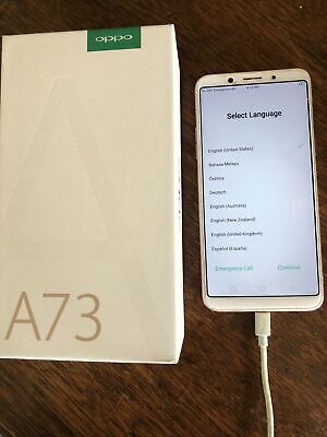 AU93 • Buy Oppo A73 Gold Mobile Phone, Factory Reset. Unlocked. VG Condition