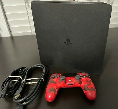 AU414.43 • Buy Sony PlayStation PS4 Slim 1TB Jet Black Console With Controller - FREE SHIPPING