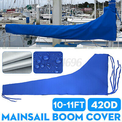 $57.98 • Buy 3.5m Sail Cover - Mainsail Boom Cover 420D 10-11ft Waterproof Fabric Blue Boat