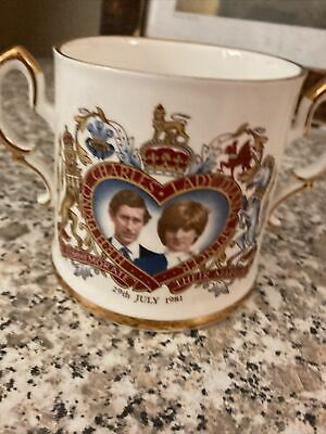 £1.99 • Buy Royal Family Memorabilia Two Handled Cup Charles & Diana Wedding July 29th 1981