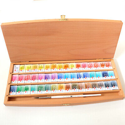 £98 • Buy St Petersburg  White Nights  Artist Watercolour Set -48 Whole Pans In Wooden Box