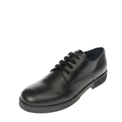 £39.99 • Buy RRP €380 JIL SANDER NAVY Leather Derby Shoes Size 36 UK 3 US 5 Treated Lace Up