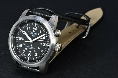 $ CDN213.99 • Buy Seiko 5M22-6C20 SUS Black Military Dial AGS/Kinetic Stainless 658