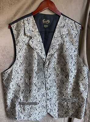 $7.99 • Buy Men's Scully Old West Western Cowboy Rodeo Formal Paisley Vest Size XL Nice