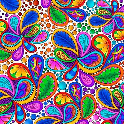 £5.85 • Buy Carnivale Packed Paisley Fabric Fat Quarter Cotton Craft Quilting Bright