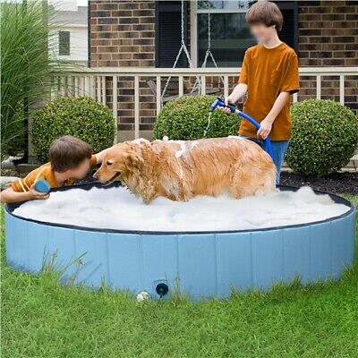 £19.99 • Buy Foldable Pet Dog Pool Bath Tub For Cat Dog Puppy Swimming Pool Indoor Outdoor