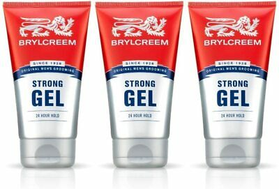£8.86 • Buy 3 X Mens 150ml BRYLCREEM STRONG HAIR STYLING GEL 24 HOUR LONG HOLD LASTING