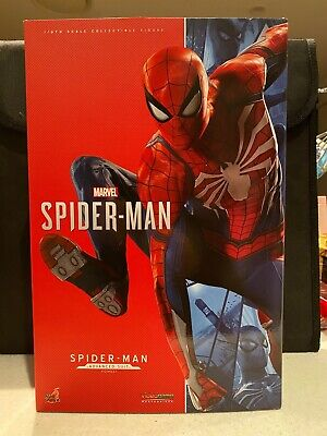 """$ CDN463.18 • Buy Hot Toys Marvel SPIDER-MAN Advanced Suit VGM031 1/6 12"""" Figure From The PS4 Game"""