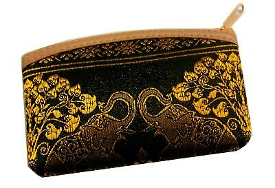 £3.99 • Buy Black Small Coin Purse With Elephant Design. .