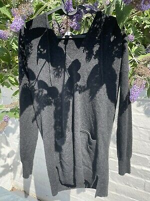 £5 • Buy The White Company Charcoal Cashmere Hoody XS