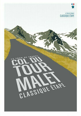 £3.95 • Buy COL DU TOURMALET Printed Poster A4 A3 A2 Cave Cycling Cafe Bike Bar Sign Tour