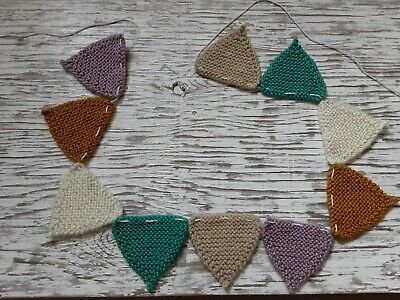 £1.99 • Buy Hand Knitted Bunting Garland Nursery Baby Shower Pretty Home Decoration Multi