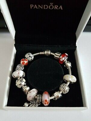 £100 • Buy Pandora Bracelet & Charms,Murano Beads,Feathered Wing,Daisy Clips,Friends,Sister