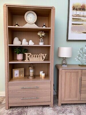 £25 • Buy Hygena Strand Oak Effect Bookcase/ Sideboard /Shelving Unit With Drawers
