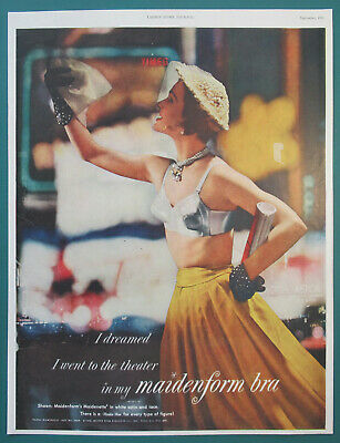 $10.32 • Buy 1950 Maidenform Bra Print Ad I Dreamed I Went To The Theater