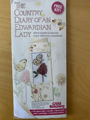 £1.26 • Buy Country Diary Of An Edwardian Lady Cross Stitch Bookmark Kit With Chart