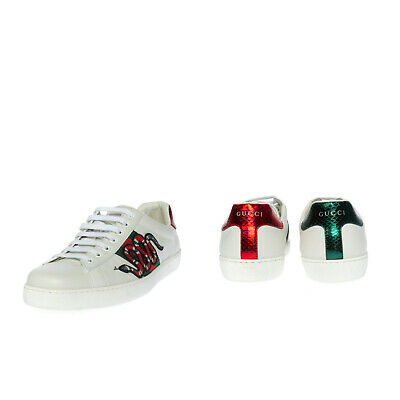 AU237.95 • Buy RRP €600 GUCCI Leather Sneakers Mismatch Size L43.5 R43 Kingsnake Made In Italy