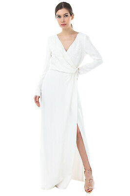 AU25.23 • Buy RRP€2830 EMILIO PUCCI Silk A-Line Gown Size 44 / M Embellished Twisted V Neck