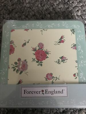 £0.99 • Buy Forever England Melissa Collection 4 Pack Floral Coasters