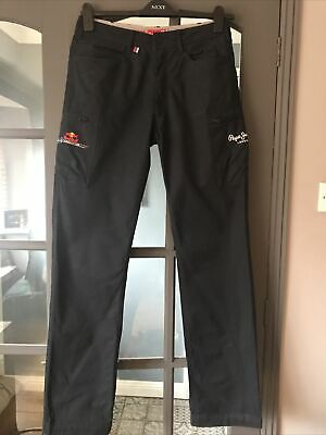 £10 • Buy New Pepe Jeans Red Bull Racing Casual Cargo Trousers W30/L34