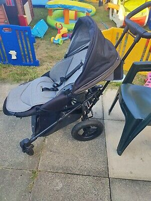£90 • Buy Micralite SmartFold Pushchair – Carbon - Quick Fold Air Filled Back Tyres