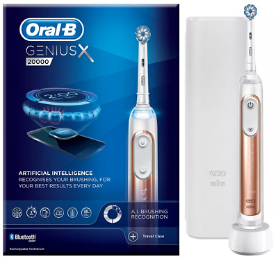 AU245.02 • Buy Oral-B Genius X 20000 Rose Gold Electric Toothbrush Brand New AI - RRP £280.00