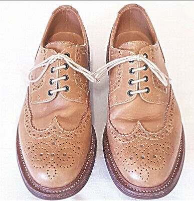 £50 • Buy Mens Sanders English Benchmade Leather Lace Up Brogue Shoes Tan/Brown Size 10uk