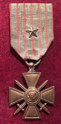 £17.99 • Buy WW1 French CROIX DE GUERRE 1914 - 1918 MEDAL W/ Star Citation Army Military