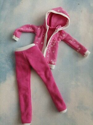 £11 • Buy Handmade Pink White Outfit For Barbie Doll , Leggings And Open Hoodie