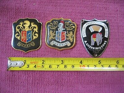 $ CDN18.18 • Buy 3 Guerrini Metal Accordion Badges - Crest Special Production For East Elephant
