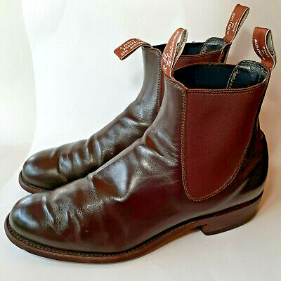 £157.13 • Buy VINTAGE RM Williams Brown Leather Chelsea Stacked Heel Boots Men'sUK10.5/US 11.5