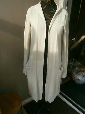 £11.49 • Buy The White Company Ladies Grey Long Hoodie Cardigan-size M-size 12
