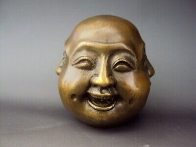 £20 • Buy Nice Chinese Vintage Bronze Oriental Four Faced Buddha, Marked!