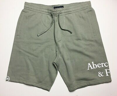 $24.99 • Buy NWT Abercrombie & Fitch Mens Logo Pull-On Soft Fleece Shorts 7  Olive  2XL