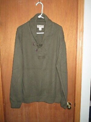 $39.99 • Buy Duluth Trading Co Mens 2XL High Neck Infantry Fisherman's Sweater Wool Blend