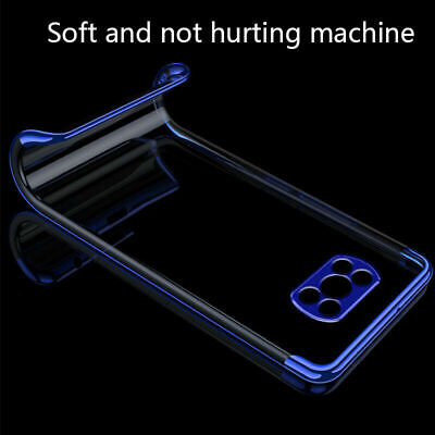 AU6.08 • Buy For Xiaomi POCO F2 Pro X3 NFC Slim Plating Clear Silicone Case Cover