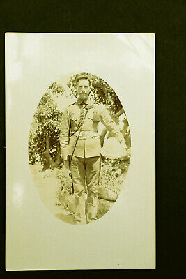 £1.25 • Buy OLD WW1 Portrait Oval Photograph Of Soldier In Uniform With Pith Helmet RP