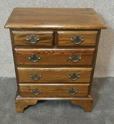 £125 • Buy Small Oak Chest Of Drawers / Bedside Chest