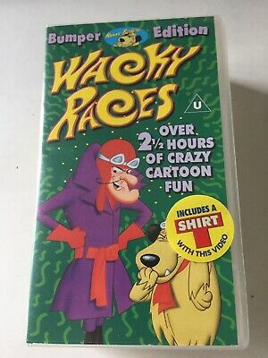 £7 • Buy Wacky Races VHS Double Box With Sealed White Kid T-shirt & VHS Video 1998